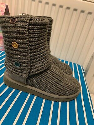 UGG AUSTRALIA GREY HIGH BOOTS SIZE Uk13 EU31 Used In Good Condition