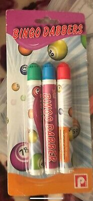 Bingo Dabbers Marker Pens Mixed Colours - Dabber Set Pack of 3