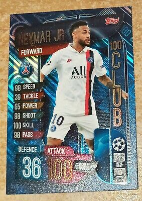 Match Attax Champions League 2019/20 Extra Neymar Jr 100 Club card