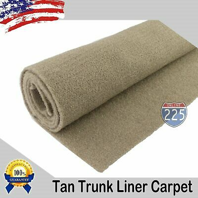 "TAN Un-Backed Automotive High Quality Trunk Liner Carpet 50"" Wide -By the Yard"