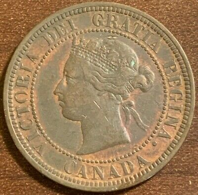 1881-H Canada One Cent Foreign Coin