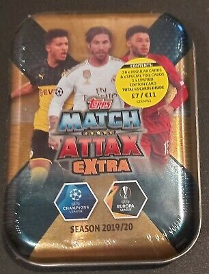 Match Attax Champions League 2019/20 Extra Mini Tin De Bruyne Limitied Edition