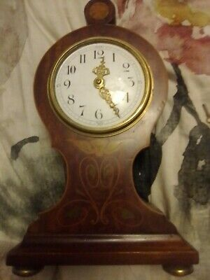 Antique French Wooden Mantel Clock c1900, Good Working Condition