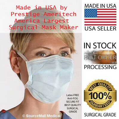 10 Genuine Disposable Masks Surgical Medical, Doctors &  Nurses use them 3-Ply