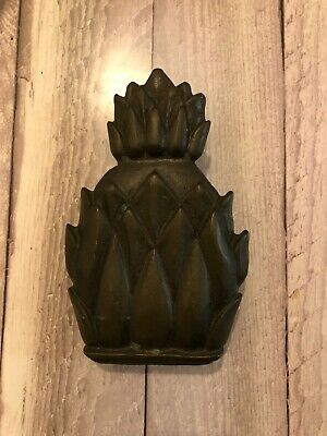 Vintage Solid Brass Pineapple Shaped Door Knocker 3.5 X 6 Made In England