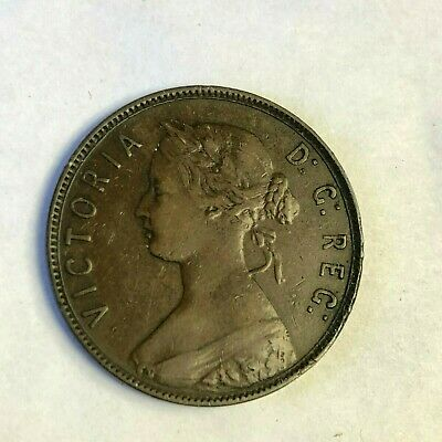 1872 H Newfoundland One Cent, Victoria Canada Large 1C, Very Fine