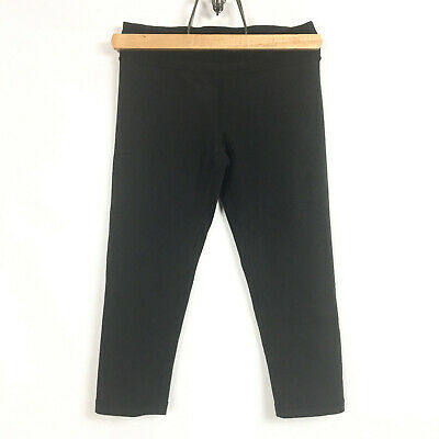 IVIVVA by Lululemon Girls Size 12 Crop Leggings Black Cropped Active Wear Pant