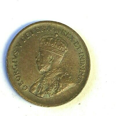 1929 CANADA One Cent, 1C George V penny, XF-AU