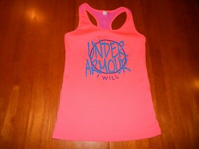 Under Armour girls shirt size Y M youth Medium athletic MINT cond