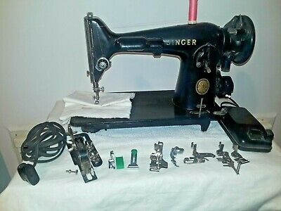 AM342454  Singer 201 Sewing Machine Heavy Duty gear Driven Perfect (N311a)p1