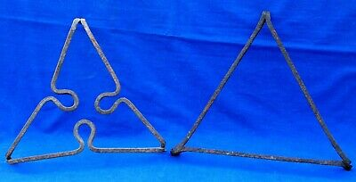 Two large 18th century French Limousin wrought iron table trivets circa 1750