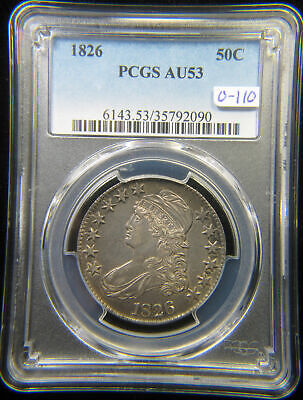 1826 Capped Bust Half _ PCGS AU-53 _ No Problems Here !!!
