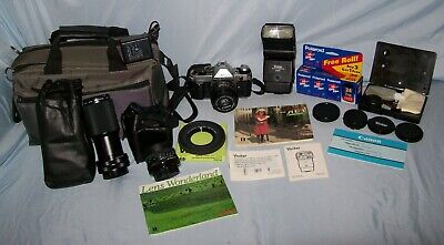 Canon Ae-1 Program Bundle With Several Lenses & Accessories Japan Barely Used