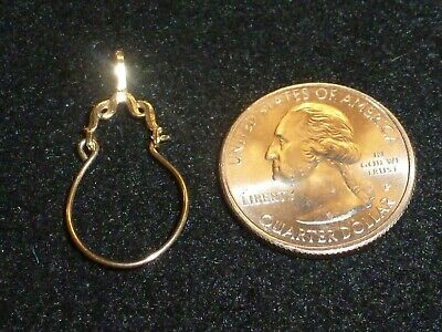 14K Solid Yellow Gold Smaller Charm Holder