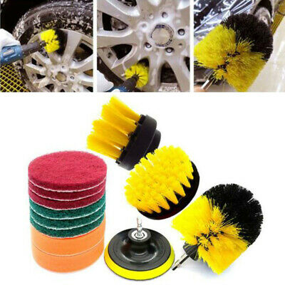 12pcs Drill Brush Scrub Scouring Power Scrubber Floor Wall Tiles Cleaning Kit