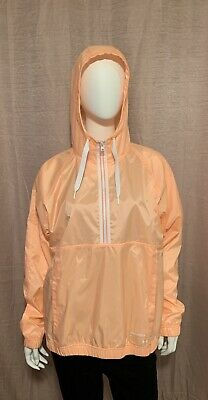 NWT Under Armour Women's Size L Coral Polyester 1/2 Zip Hooded Pullover Jacket