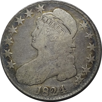 1824 Capped Bust Half Dollar - Toning