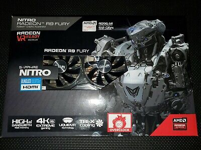 Sapphire Nitro AMD R9 Fury OC 4GB GDDR5 Graphics Card | VR Ready, 4K Ready