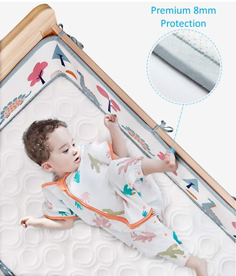 Airoya® 4-Sided All-Round Breathable Cot Bumper,Premium 8mm Thick Protection, 3D