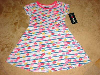 Nwt Limited Too Cute Spring Summer Floral Flowers Short Sleeve Dress White Sz 5
