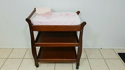 Wooden Baby change table with mat & covers