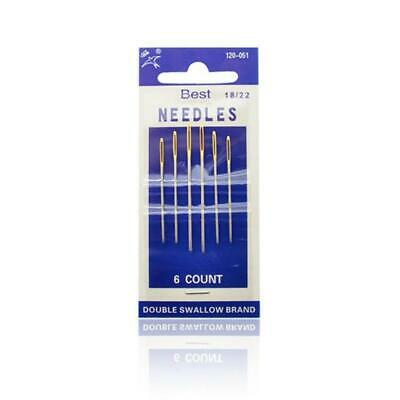 4 Pc Big Eye Hand Sewing Needles Wool Thick Knitter Yarn Quality Strong Needle