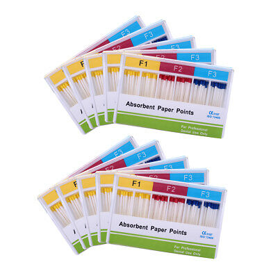 100 Packs Dental Endo Absorbent Paper Points F1-F3 Root Canal Endodontics AZDENT