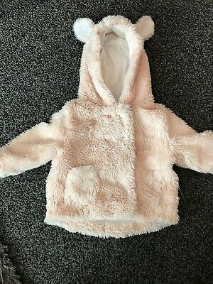 Baby Girls Next Fleece Supersoft Coat With Ears 6-9 Months