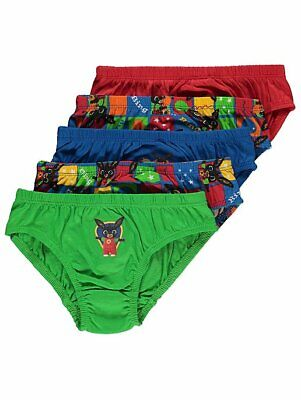 George Boys Toddler Official Bing Bunny Briefs 5 Pack