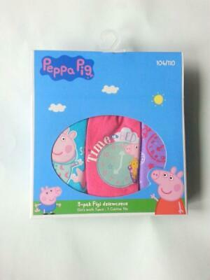 Girls Kids Official Peppa Pig Briefs Knickers 3 Pack