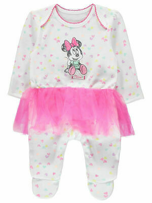 George Official Disney Baby Minnie Mouse Heart Print Tutu All in One