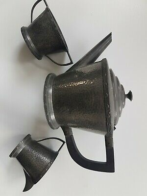 Antique arts & craft ARGENT pewter teapot and jugs