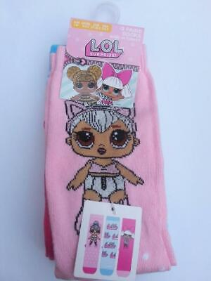 Primark Girls Kids Official LOL Surprise Kitty Queen Diva Socks 3 Pack