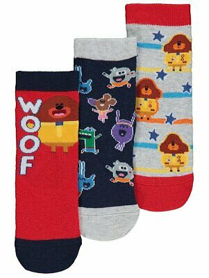 George Boys Girls Official Hey Duggee Socks 3 Pack
