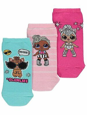 George Girls Official LOL Surprise Socks 3 Pack