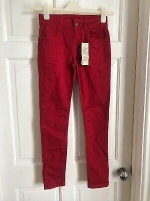 Girls Red Skinny Jeans - Age 11-12 BNWT Primark