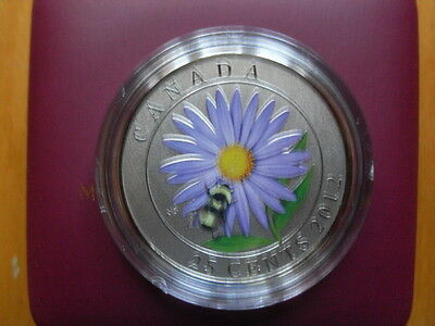 2012 Canada Aster & Bumble Bee 25-cent from RCM