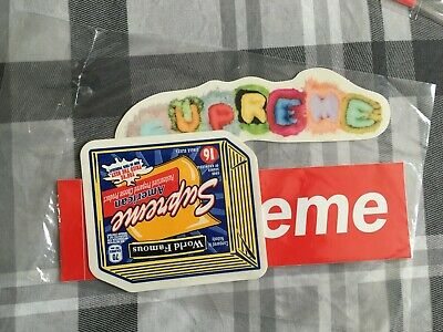 new and sealed supreme sticker pack box logo