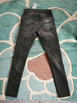 Next Boys Black Super Skinny stretch Jeans, Waist 26S