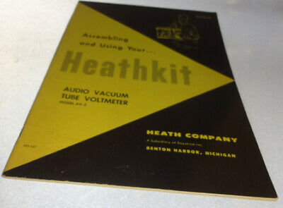 Orig Heathkit Audio Vacuum Tube Voltmeter Model AV-3 Assembling & Use Manual