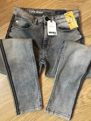 Boys Next Super Skinny Grey Jeans Age 11 Years BNWT