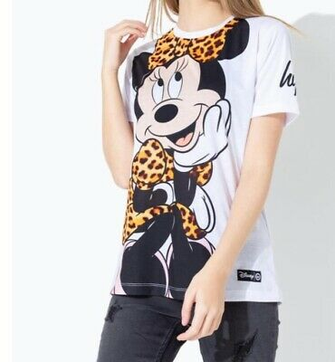 Hype Disney Minnie Mouse Tshirt Girls Age 9-10 Years White Top