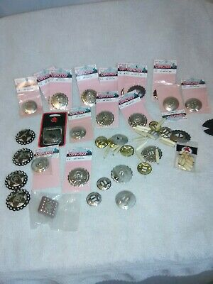 Hugh Lot Round Slotted Star Conchos and Many Others nice Variety