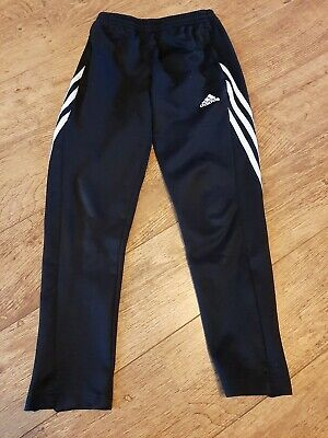 Adidas Girls Tracksuit Bottoms Black Age 9-10 Years. Good condition