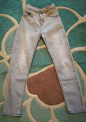 "Boys ""Next"" super skinny stretch Jeans age 12 years. Light Grey. Good Condition."