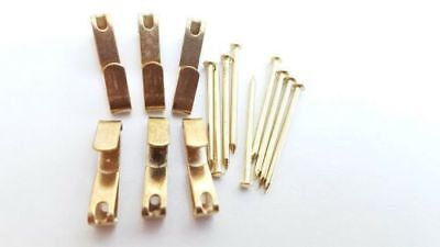 Picture Hooks With Nails Brassed Wall Hanger Number 1 Size x 50
