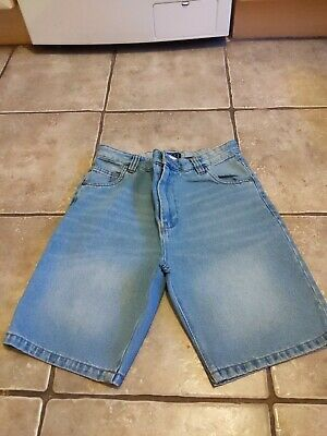 Boys Blue Denim Jean Shorts Age 14 Years By Next