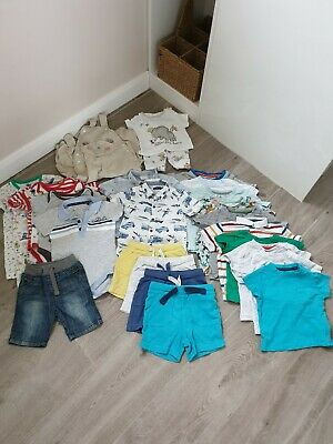 Baby Boys Summer Clothes Bundle Shorts/ Shirts - 9-12 Months- Next/ H&M