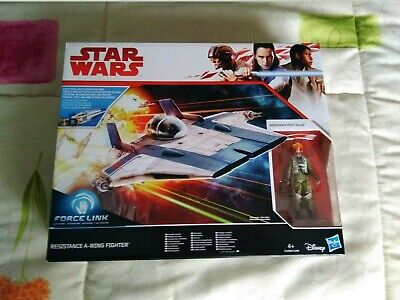 Star Wars A wing Fighter + Resistence Pilot Tallie Force Link