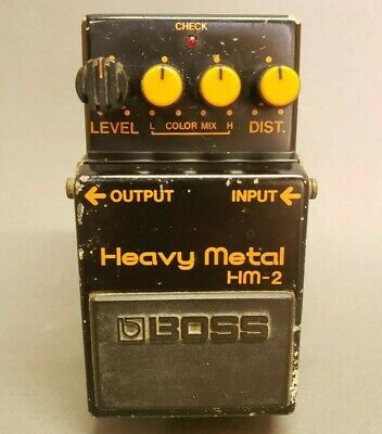 Boss HM-2 Vintage Distortion Pedal Made in Japan Heavy Metal